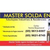 master solda tubulação de gás