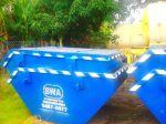 Caçambas Estacionárias utilizadas para a remoção de entulho da construção civil e resíduos perigosos