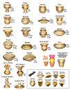 Vasos em Cerâmica com dourados Peq