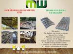 Telhas ecológicas, feitas de TetraPack pós consumo. São telhas super resistentes até mesmo a chuva
